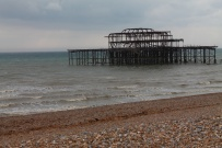 Brighton burnt pier